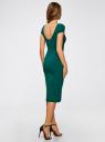 Платье миди с вырезом на спине oodji #SECTION_NAME# (зеленый), 24001104-5B/47420/6E00N - вид 3