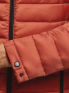 Куртка стеганая с капюшоном oodji #SECTION_NAME# (оранжевый), 1B112009M/25278N/5500N - вид 5