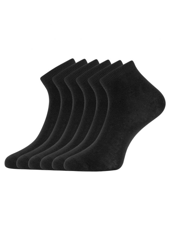 Комплект укороченных носков (6 пар) oodji для женщины (черный), 57102418T6/47469/2900N