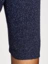 Джемпер свободного силуэта с широким вырезом oodji #SECTION_NAME# (синий), 63812566-1/46636/7900X - вид 5