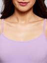 Майка женская (упаковка 2 шт) oodji #SECTION_NAME# (фиолетовый), 14305023T2/46147/8000N - вид 4