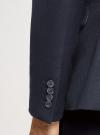Пиджак базовый приталенный oodji #SECTION_NAME# (синий), 2B420030M/49710N/7900N - вид 5