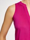 Топ базовый из вискозы oodji для женщины (розовый), 14911008-1B/48756/4701N - вид 5