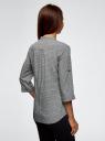 Блузка вискозная с нагрудными карманами oodji #SECTION_NAME# (серый), 11403225-7B/42540/2930G - вид 3