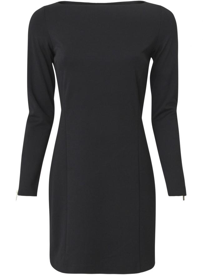Трикотажное платье oodji для женщины (черный), 24011008/45095/2900N