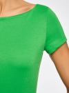 Платье трикотажное с вырезом-лодочкой oodji #SECTION_NAME# (зеленый), 14001117-2B/16564/6A00N - вид 5
