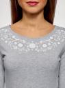 Платье трикотажное приталенное oodji для женщины (серый), 14011005-4/47420/2010Z