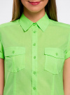 Рубашка базовая с коротким рукавом oodji #SECTION_NAME# (зеленый), 11402084-5B/45510/6000Y - вид 4