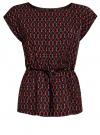 Блузка принтованная из вискозы oodji #SECTION_NAME# (разноцветный), 11400345-2/24681/7543G - вид 6