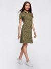 Платье-поло из ткани пике oodji #SECTION_NAME# (зеленый), 24001118-2/47005/6668E - вид 6