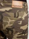 Джинсы skinny в стиле милитари oodji для женщины (зеленый), 12103137/45691/3768W