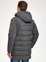Куртка удлиненная с капюшоном oodji #SECTION_NAME# (серый), 1L113003M/49541N/2500M - вид 3