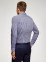 Рубашка extra slim в мелкую клетку oodji для мужчины (синий), 3B140003M/39767N/1079C