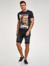 Шорты джинсовые с потертостями oodji #SECTION_NAME# (черный), 6L220021M/47884/2900W - вид 6
