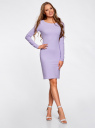 Платье трикотажное облегающего силуэта oodji #SECTION_NAME# (фиолетовый), 14001183B/46148/8000N - вид 2