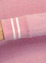 Свитшот хлопковый с принтом и вышивкой oodji #SECTION_NAME# (розовый), 14807021-11/46919/4119Z - вид 5