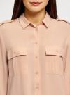 Блузка вискозная с нагрудными карманами oodji #SECTION_NAME# (розовый), 11411127-1B/42807/4B00N - вид 4