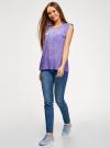 Блузка вискозная с нагрудными карманами oodji #SECTION_NAME# (фиолетовый), 21412132-5B/24681/8012S - вид 6