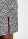 Юбка прямая с ремнем oodji #SECTION_NAME# (серый), 21601273-1/14522/2912O - вид 5