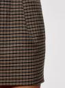 Юбка короткая с карманами oodji #SECTION_NAME# (коричневый), 11605056-3/45839/2931C - вид 5