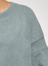 Свитшот хлопковый со спущенным плечом oodji #SECTION_NAME# (синий), 14808037/48881/7400P - вид 5
