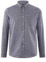 Рубашка хлопковая с нагрудным карманом oodji для мужчины (синий), 3L110338M/48644N/7579O