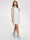 Платье хлопковое без рукавов oodji #SECTION_NAME# (белый), 11911027-2/13175N/1040P - вид 6