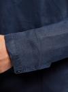 Рубашка льняная без воротника oodji #SECTION_NAME# (синий), 3B320002M/21155N/7900N - вид 5