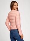 Куртка стеганая с круглым вырезом oodji для женщины (розовый), 10203050-2B/47020/4001N - вид 3