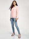 Блузка базовая из вискозы с нагрудными карманами oodji #SECTION_NAME# (розовый), 11411127B/42540/4000N - вид 6