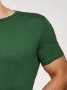 Футболка базовая oodji для мужчины (зеленый), 5B621002M/44135N/6902N