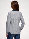 Рубашка принтованная oodji #SECTION_NAME# (синий), 13K03002-3B/45202/1079S - вид 3