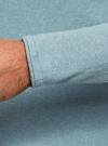 Джемпер базовый с круглым воротом oodji #SECTION_NAME# (бирюзовый), 4B112006M/25990N/7300M - вид 5