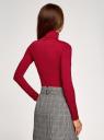 Водолазка базовая облегающая oodji для женщины (красный), 15E11001-3B/45297/4900N