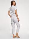 Пижама хлопковая с брюками oodji для женщины (белый), 56002231/46154/1029Q