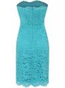 Трикотажное платье oodji для женщины (бирюзовый), 14006067/42945/7300N
