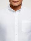 Рубашка из фактурной ткани oodji #SECTION_NAME# (белый), 3B310007M/49257N/1000O - вид 4