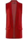 Жилет удлиненный без застежки oodji #SECTION_NAME# (красный), 12300103-1B/42250/4501N