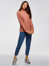 Блузка вискозная А-образного силуэта oodji #SECTION_NAME# (розовый), 21411113B/42540/4B02N - вид 6