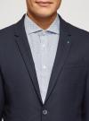 Пиджак базовый приталенный oodji #SECTION_NAME# (синий), 2B420030M/49710N/7900N - вид 4
