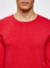 Джемпер базовый с круглым воротом oodji #SECTION_NAME# (красный), 4B112003M/34390N/4500M - вид 4