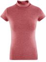 Водолазка с коротким рукавом oodji для женщины (красный), 25E02001B/18605/4900N
