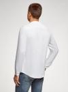 Рубашка льняная без воротника oodji #SECTION_NAME# (белый), 3B320002M/21155N/1000N - вид 3