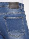 Джинсы slim со средней посадкой oodji для мужчины (синий), 6B160002M-1/45068/7500W