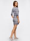 Платье жаккардовое с геометрическим узором oodji #SECTION_NAME# (фиолетовый), 14001064-5/46025/8023J - вид 3