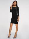 Платье с декоративными молниями принтованное oodji для женщины (черный), 24007024/43121/2900N - вид 6