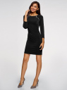 Платье с декоративными молниями принтованное oodji для женщины (черный), 24007024/43121/2900N