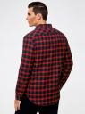 Рубашка утепленная на кнопках oodji #SECTION_NAME# (красный), 1L111030M/47458N/4579C - вид 3