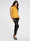 Блузка базовая без рукавов с воротником oodji #SECTION_NAME# (желтый), 11411084B/43414/5200N - вид 6