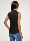 Рубашка базовая без рукавов oodji #SECTION_NAME# (черный), 14905001-1B/12836/2900N - вид 3